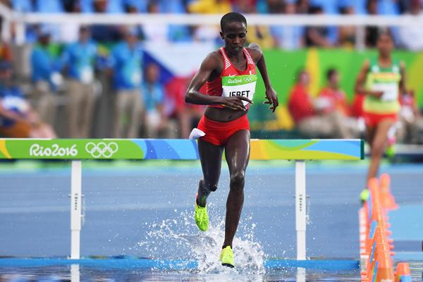 Ruth Jebet at  the Rio 2016 Olympic Games (Getty Images)