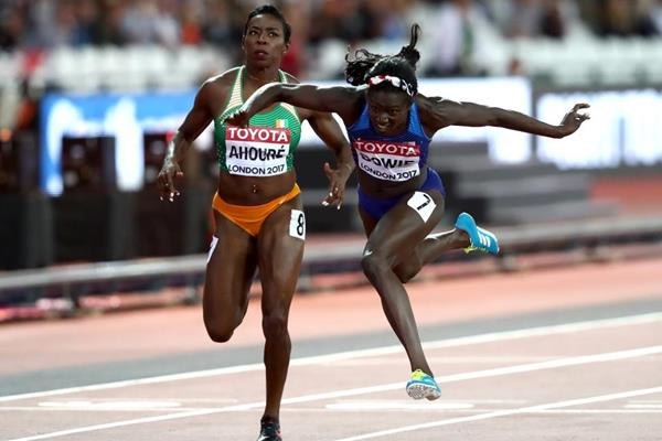Tori Bowie wins the 100m at the IAAF World Championships London 2017 (Getty Images)