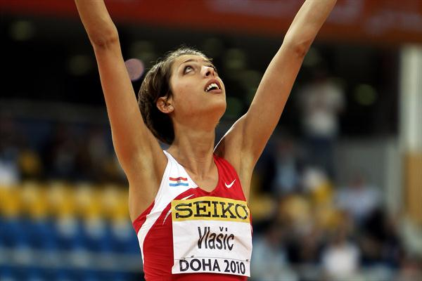 Blanka Vlasic of Croatia celebrates her victory (Getty Images)