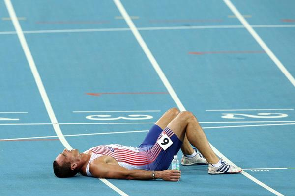 Roman Sebrle after the Decathlon at the 2011 World Championships in Daegu (Getty Images)