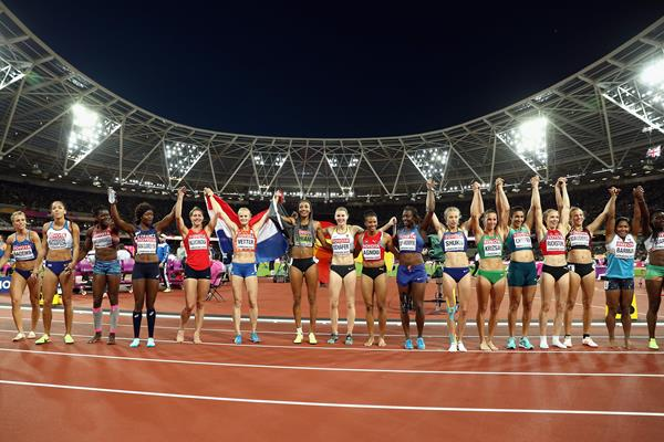 Heptathlon field at the IAAF World Championships London 2017 (Getty)