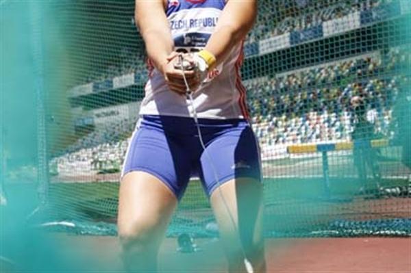 Katerina Šafránková at European Cup in Leiria (graf.cz)