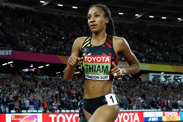 Nafissatou Thiam in the heptathlon 800m at the IAAF World Championships London 2017 (Getty Images)