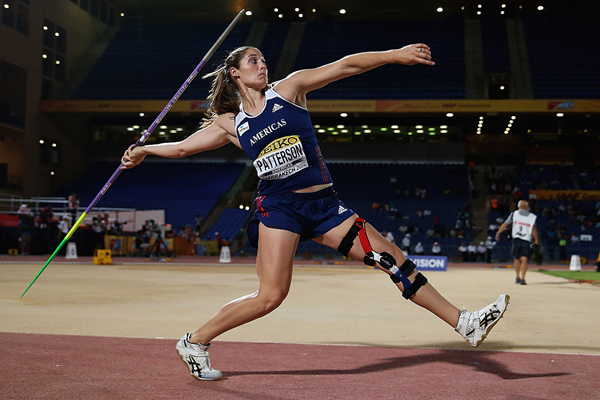 Kara Winger in the javelin at the IAAF Continental Cup Marrakech 2014 (Getty Images)