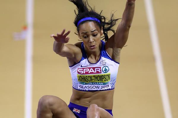 Katarina Johnson-Thompson at the European Indoor Championships in Glasgow (Getty Images)