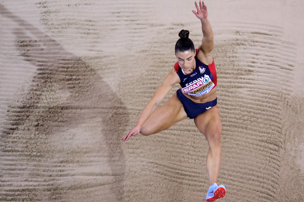 Ivana Spanovic in the long jump at the European Indoor Championships (Getty Images)