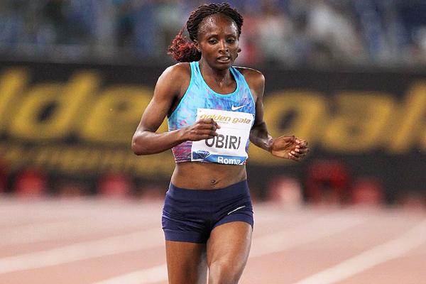 Solo run - Hellen Obiri in the 5000m at the IAAF Diamond League meeting in Rome (Jean Pierre Durand)