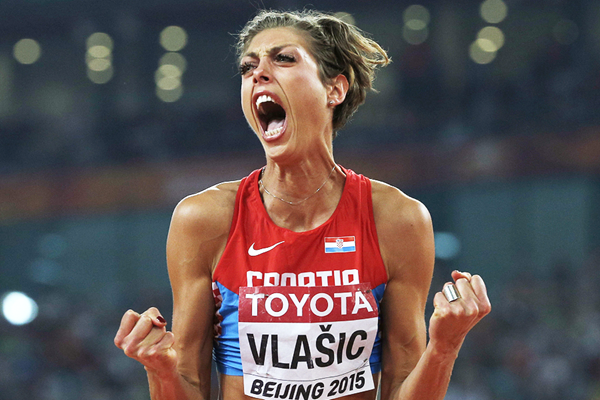 Blanka Vlasic in the high jump final at the IAAF World Championships, Beijing 2015 (AFP / Getty Images)