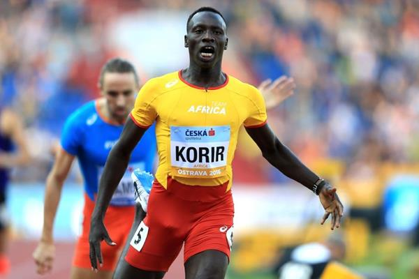 Emmanuel Korir after his Continental Cup 800 win (Getty Images)