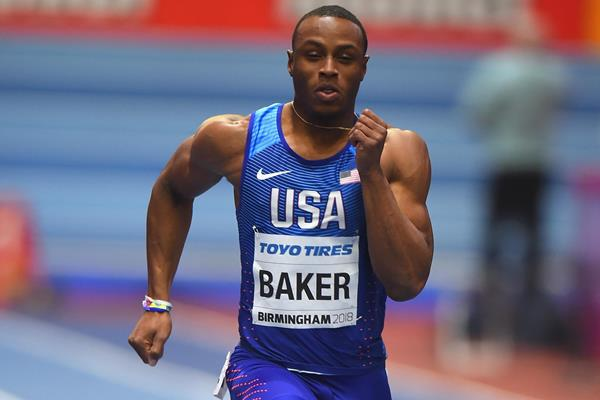 Ronnie Baker in the 60m at the IAAF World Indoor Championships Birmingham 2018 (Getty Images)