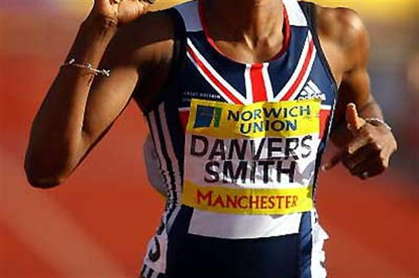 Tasha Danvers-Smith wins the 400m Hurdles in Manchester (Getty Images)