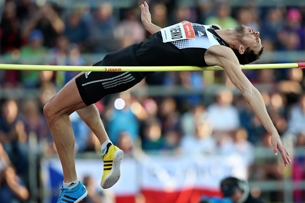 Bogdan Bondarenko, winner of the high jump in Ostrava (Organisers)