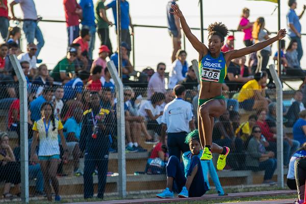 Nubia Soares, winner of the triple jump at the South American Championships (Oscar Munoz Badilla)