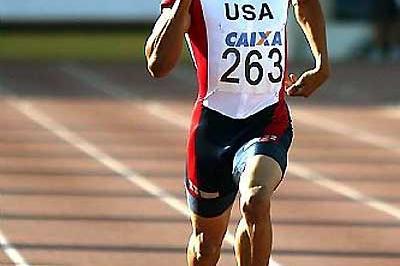 Bryshon Nellum - 400m winner at Pan Am Jnrs (Bruno Miani/CBAt Divulgação)