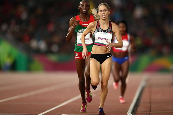 Natasha Wodak on her way to winning the 10,000m at the Pan-American Games in Lima (Getty Images)