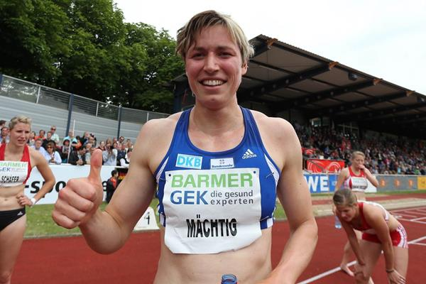 Julia Machtig after winning at the 2013 IAAF Combined Events Challenge meeting in Ratingen (Gladys von der Laage)