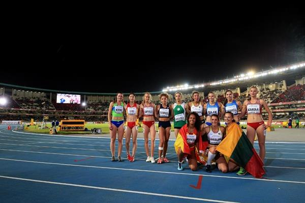 Athletes at the end of the heptathlon at the IAAF World U18 Championships Nairobi 2017 (Getty Images)