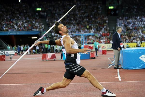 Magnus Kirt, winner of the javelin at the IAAF Diamond League final in Zurich (Jiro Mochizuki)