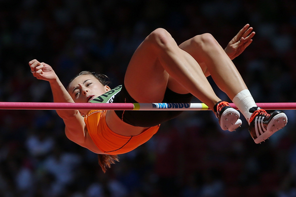 Nadine Visser in the heptathlon high jump at the IAAF World Championships, Beijing 2015 (Getty Images)