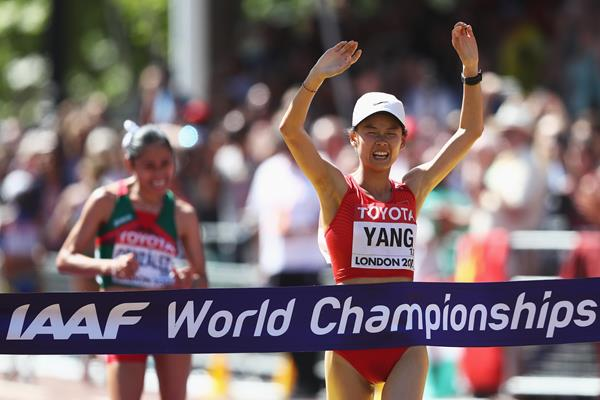 Yang Jiayu wins the 20km race walk at the IAAF World Championships London 2017 (Getty Images)