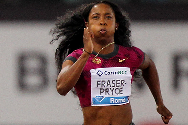 Shelly-Ann Fraser-Pryce at the IAAF Diamond League meeting in Rome (Getty Images)