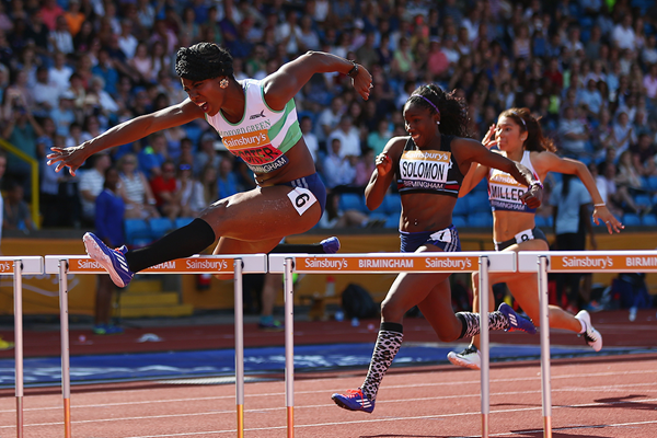 Tiffany Porter on her way to winning the British 100m hurdles title in Birmingham (Getty Images)