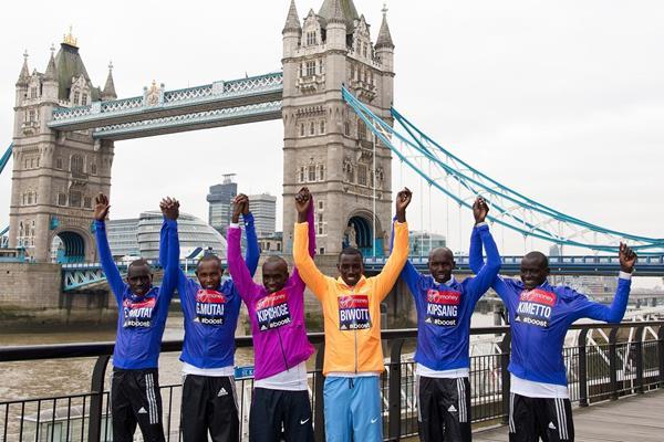 Some of the 2015 Virgin Money London Marathon men's elite field (Getty Images)