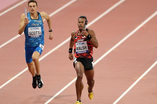 Action in the men's 4x400m relay at the IAAF World Athletics Championships Doha 2019 (Getty Images)