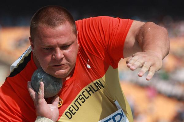 Ralf Bartels in the qualification round of the Shot Put in Daegu (Getty Images)