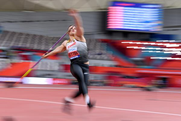 Johannes Vetter in javelin qualifying at the IAAF World Athletics Championships Doha 2019 (AFP/Getty Images)