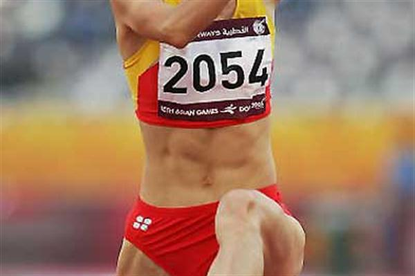 Limei Xie of China triple jumps to gold at the Asian Games (Getty Images)