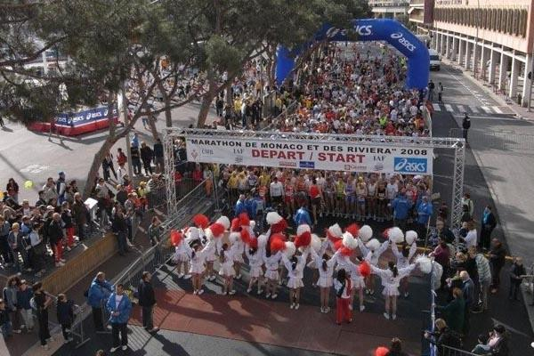 The start of the 2008 Monaco Marathon (Monaco Marathon)