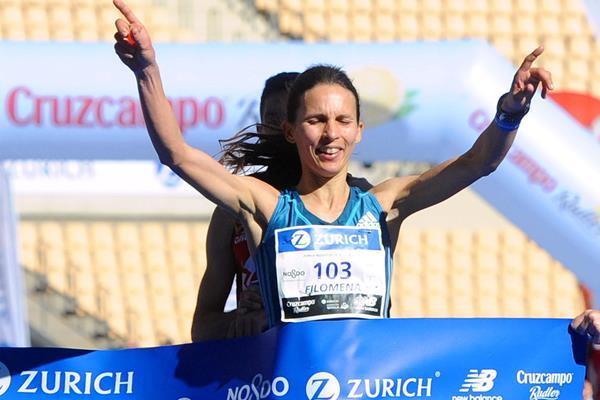 Filomena Costa wins at the 2015 Maraton de Sevilla (Juan Jose Ubeda / Zurich Maraton de Sevilla)