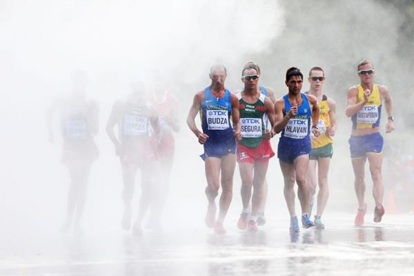 Action shot in the mens 50km Walk Race at the IAAF World Athletics Championships Moscow 2013 (Getty Images)