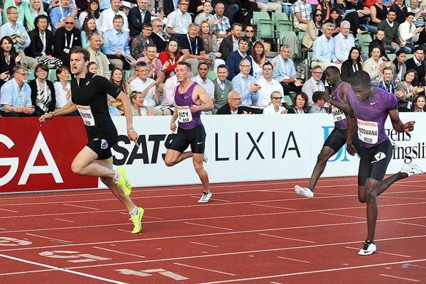 Christophe Lemaitre wins the 200m at the IAAF Diamond League meeting in Oslo (Mark Shearman)