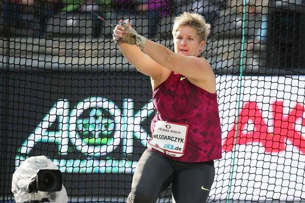 Anita Wlodarcyzk in action at the 2014 ISTAF Berlin meeting (Gladys Chai von der Laage)