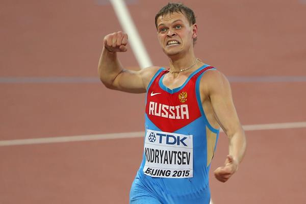 Russia's Denis Kudryavtsev in the 400m hurdles semi-final at the IAAF World Championships, Beijing 2015 (Getty Images)