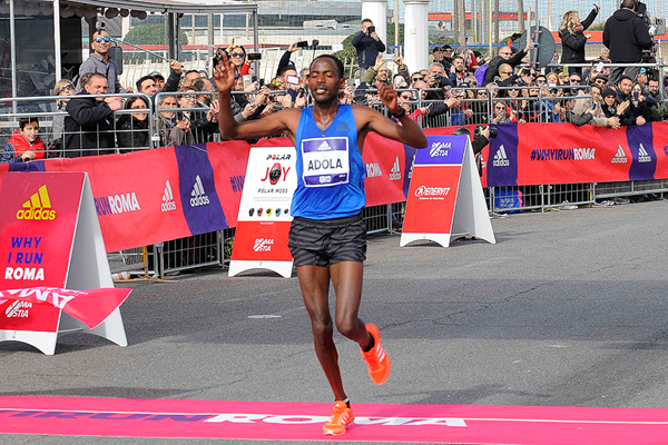 Guye Adola wins the Rome-Ostia Half Marathon (Getty Images)