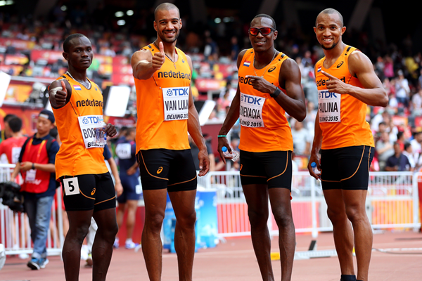 The Dutch 4x100m team at the IAAF World Championships Beijing 2015 (Getty Images)