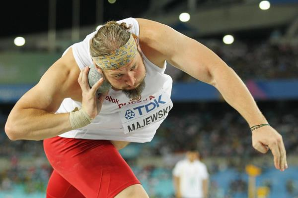 Polish shot putter Tomasz Majewski in action at the 2011 World Championships (Getty Images)