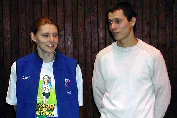 Privalova and Borzakovskiy (IAAF)