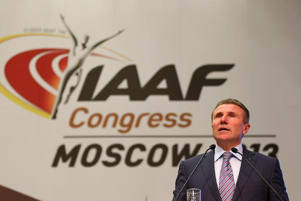 IAAF Vice President Sergey Bubka at the 49th IAAF Congress (Getty Images)