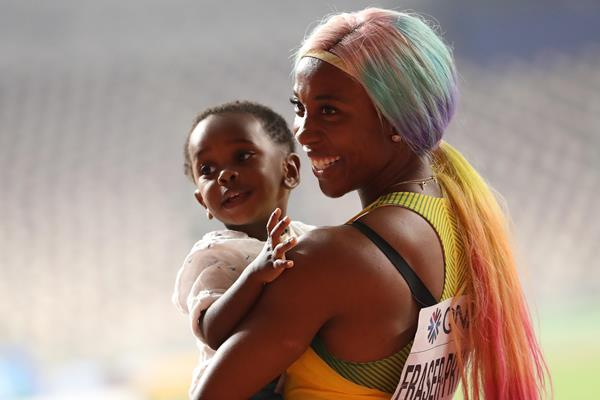 Shelly-Ann Fraser-Pryce after winning the 100m at the IAAF World Athletics Championships Doha 2019 (Getty Images)