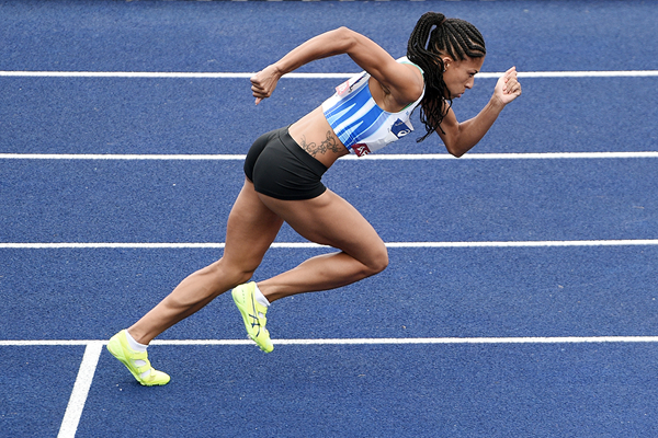 Floria Guei in the 400m at the French Championships (Philippe Millereau/KMSP)