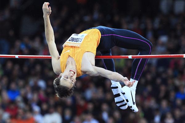High jump winner Marco Fassinotti at the IAAF Diamond League meeting in London (Jean-Pierre Durand)