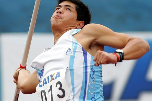 Braian Toledo of Argentina at the 2009 South American Junior Championships (CBAt)