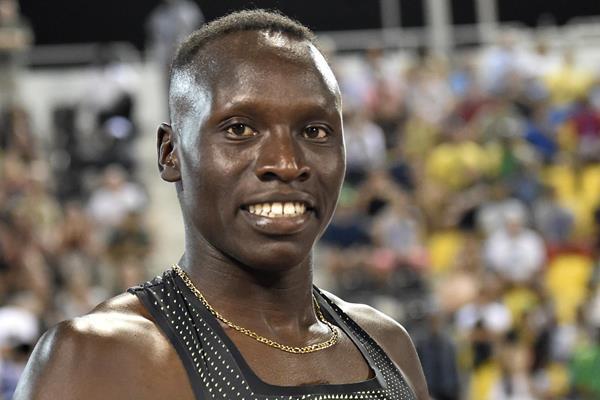 Emmanuel Kipkirui Korir after his 800m win in Doha (Hasse Sjogren)