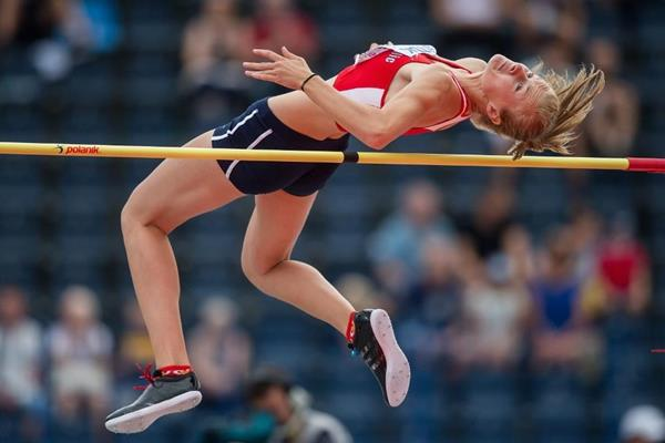 Michaela Hruba in the high jump at the IAAF World U20 Championships Bydgoszcz 2016 (Getty Images)