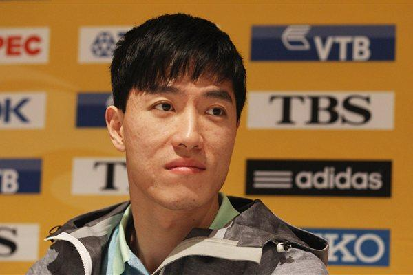 Liu Xiang on the eve of the World Indoor Championships in Istanbul (Getty Images)