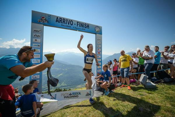 Andrea Mayr shatters the course record at the PIZTRIVertical race in Malonno, Italy (Marco Gulberti (organisers))